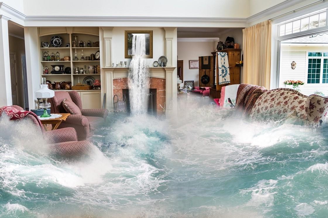 huis onder water