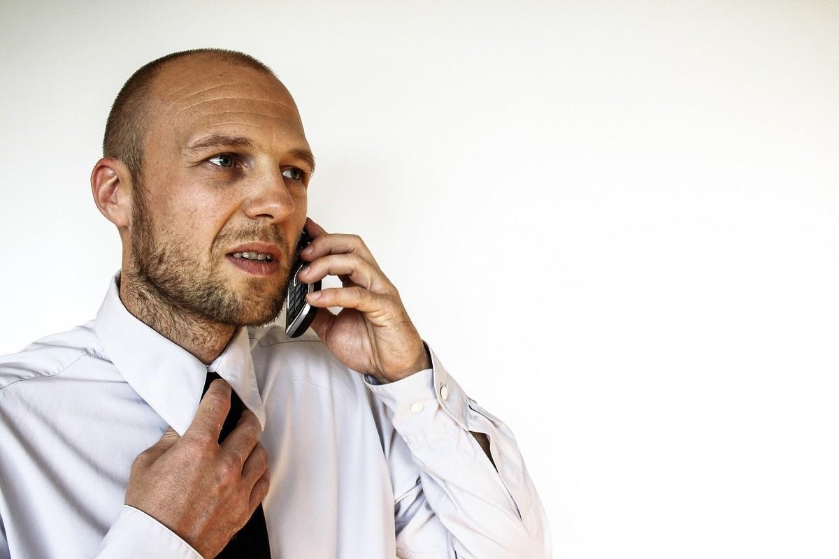 manager aan telefoon