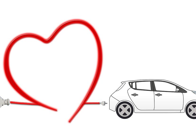 elektrische auto hart