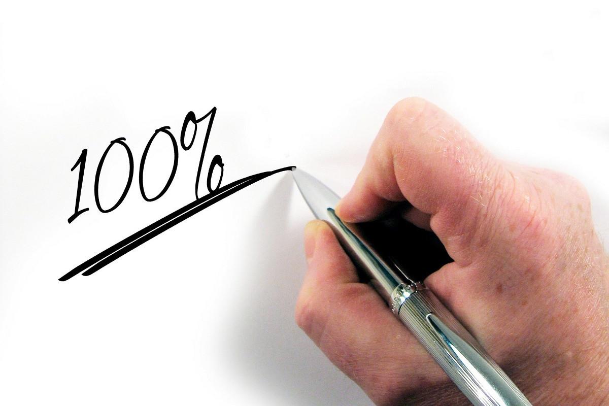 honderd procent