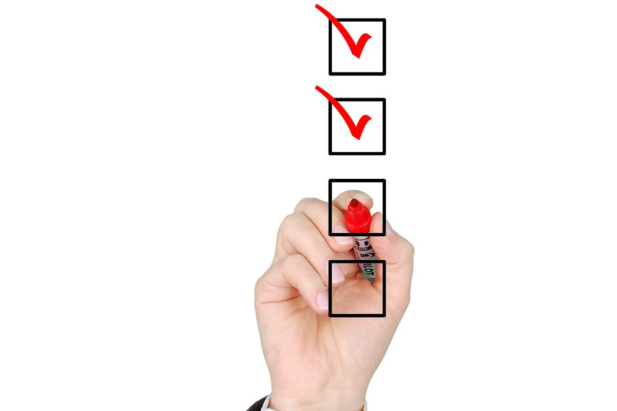 checklist aanvinken