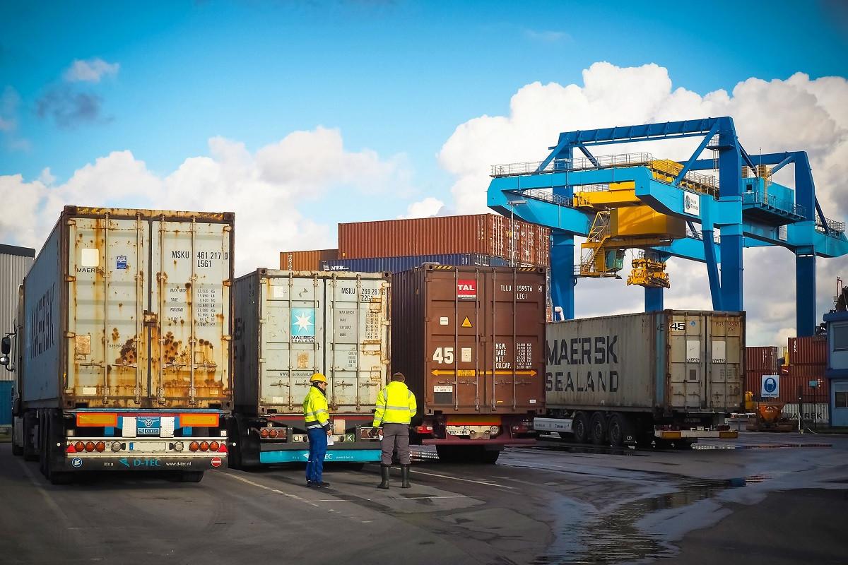 containers vrachtwagen
