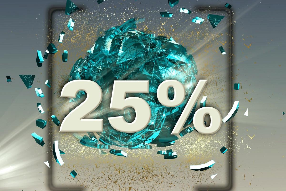 vijfentwintig procent