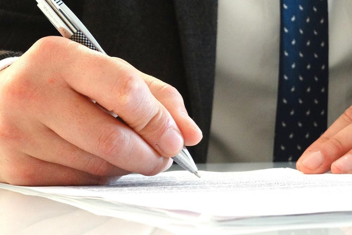 handtekening noteren