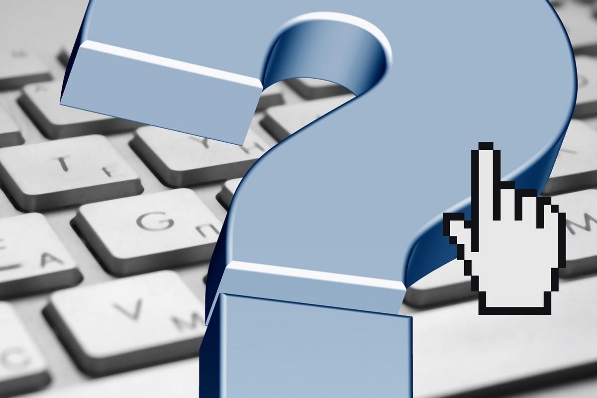 vraagteken toetsenbord