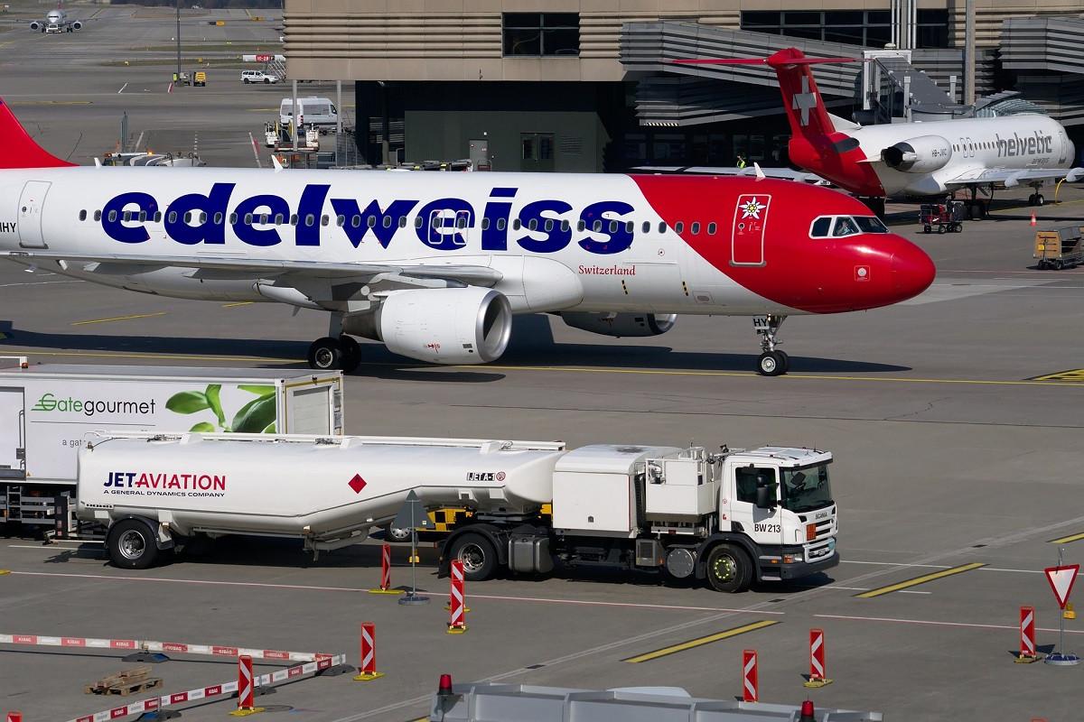 edelweiss vliegtuig