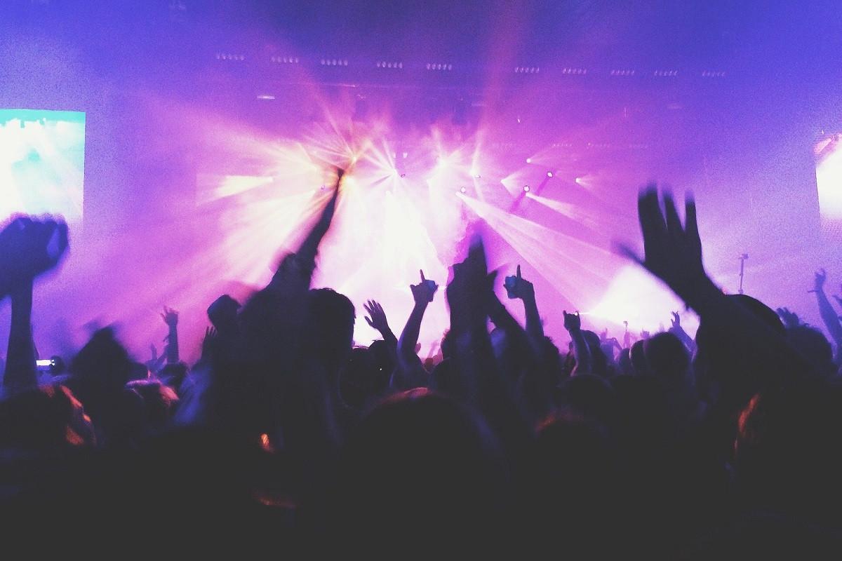 concert feestende mensen