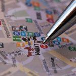 stad kaart markt